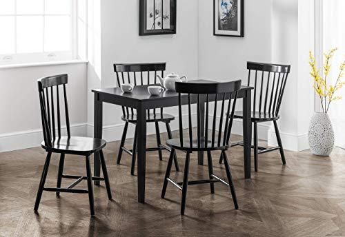 Julian Bowen Hudson Dining Table, Black
