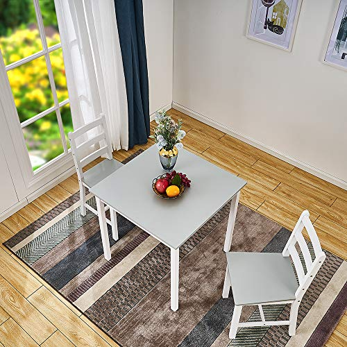 Panana Wooden Dining Table Set With 2 Chairs in Choice of Colours Dining Room Furniture Set