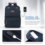 Business Laptop Backpack, Multipurpose College Rucksack Travel Casual Daypack with USB Charging Port for Women Men Fits 15.6 Inch Laptop 18