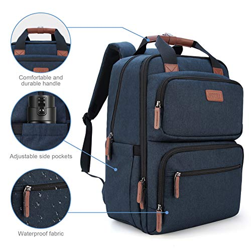 Business Laptop Backpack, Multipurpose College Rucksack Travel Casual Daypack with USB Charging Port for Women Men Fits 15.6 Inch Laptop 4