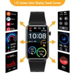 CatShin fitness watch for women, 1.57 inch fitness tracker with heart rate, pedometer, sleep monitor, music control, IP68 waterproof sports watch, stopwatch for women and men, for iOS and Android 20