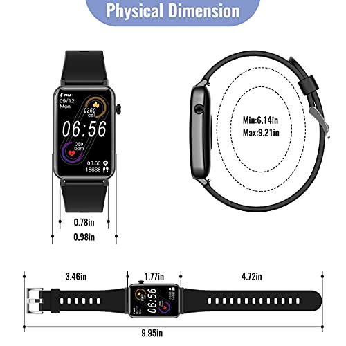 CatShin fitness watch for women, 1.57 inch fitness tracker with heart rate, pedometer, sleep monitor, music control, IP68 waterproof sports watch, stopwatch for women and men, for iOS and Android 9