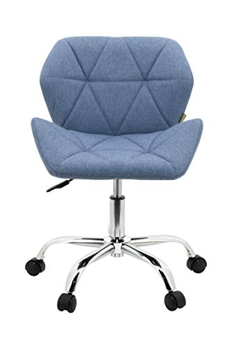 HNNHOME® Modern Eris Padded Swivel Fabric Home Office Desk Computer Chair, Height Adjustable 3