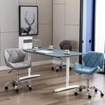 HNNHOME® Modern Eris Padded Swivel Fabric Home Office Desk Computer Chair, Height Adjustable 23