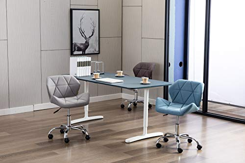 HNNHOME® Modern Eris Padded Swivel Fabric Home Office Desk Computer Chair, Height Adjustable 4