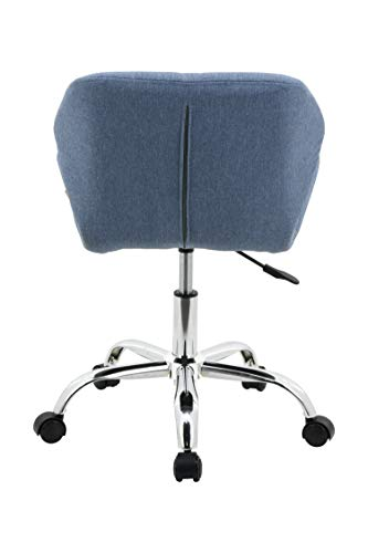 HNNHOME® Modern Eris Padded Swivel Fabric Home Office Desk Computer Chair, Height Adjustable 5