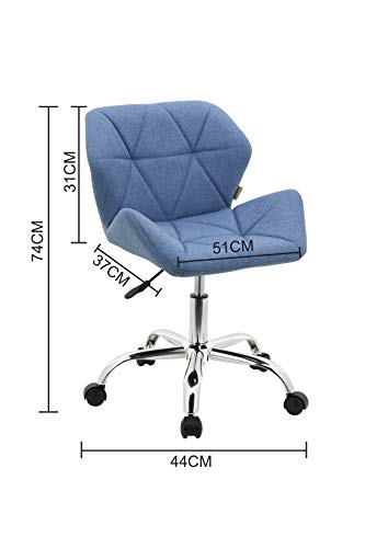 HNNHOME® Modern Eris Padded Swivel Fabric Home Office Desk Computer Chair, Height Adjustable 7