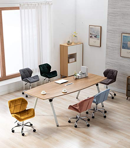 HNNHOME® Modern Eris Padded Swivel Fabric Home Office Desk Computer Chair, Height Adjustable 8