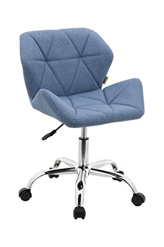HNNHOME® Modern Eris Padded Swivel Fabric Home Office Desk Computer Chair, Height Adjustable 1