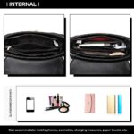Miss Lulu Women Top Handle Bag Suede Handbags Pu Leather Shoulder Bag Elegant Modern For Work Shopping Travel Small 21