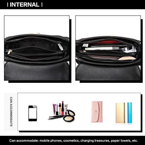 Miss Lulu Women Top Handle Bag Suede Handbags Pu Leather Shoulder Bag Elegant Modern For Work Shopping Travel Small 6