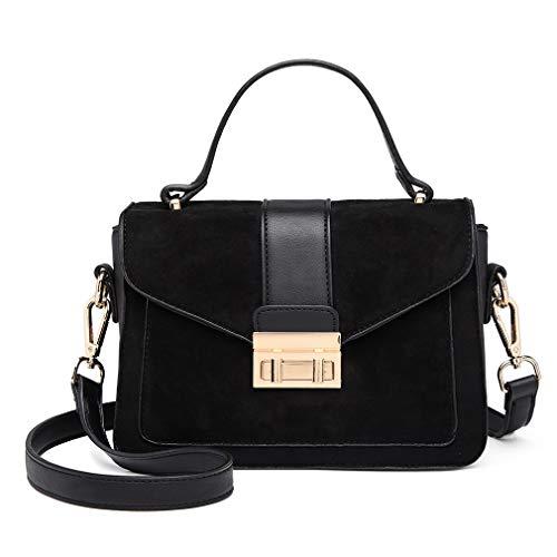 Miss Lulu Women Top Handle Bag Suede Handbags Pu Leather Shoulder Bag Elegant Modern For Work Shopping Travel Small 1