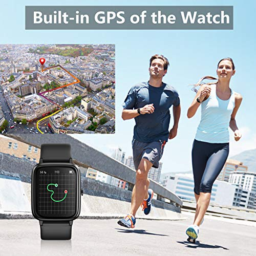 Smart Watch, AKWLOVY GPS Integrated Fitness Tracker Watch, IP68 Waterproof Heart Rate Monitoring Activity Tracking Sport Smartwatch for Ladies Men Women for Iphone Android IOS with Phone Notifications 3