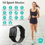 Smart Watch, AKWLOVY GPS Integrated Fitness Tracker Watch, IP68 Waterproof Heart Rate Monitoring Activity Tracking Sport Smartwatch for Ladies Men Women for Iphone Android IOS with Phone Notifications 17