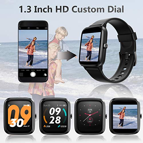 Smart Watch, AKWLOVY GPS Integrated Fitness Tracker Watch, IP68 Waterproof Heart Rate Monitoring Activity Tracking Sport Smartwatch for Ladies Men Women for Iphone Android IOS with Phone Notifications 5